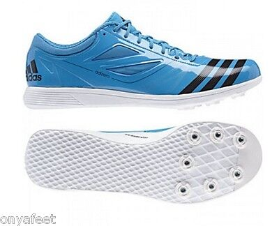 Adidas Adizero Prime Mens White Track Field Sneakers Shoes Spikes Trainers