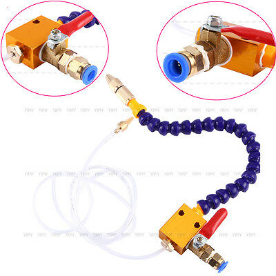 New Mist Coolant Lubrication Spray System For 8mm Air Pipe CNC Lathe Mill Drill