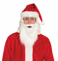 Adult Size White Beard And Moustache Santa Christmas St. Nick Biblical Beard