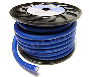 image is loading 50-ft-premium-0-gauge-blue-power-wire-