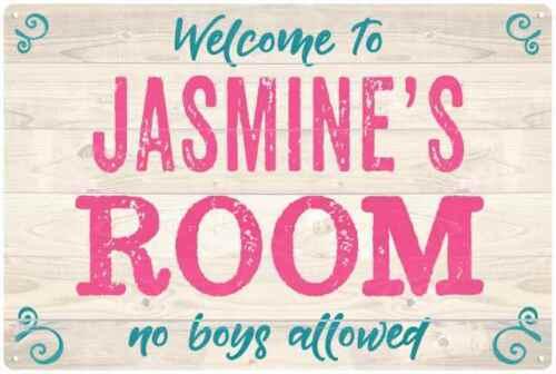 JASMINE/'S Room Kids Bedroom Sign Personalized Metal Sign 108120089130