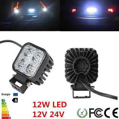 12W 12V Work Light Lamp Spot Beam LED Offroad Car Boat Truck Fog Driving SUV NEW