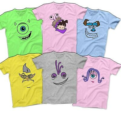 Monsters Inc Mike Sulley Randall T Shirt Disney Halloween Costume Cosplay Shirts Ebay