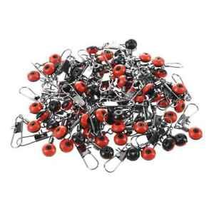 100X-Schnelle-Perlen-Laufwirbel-Wirbel-Sicherheitskarabiner-Posen-Adapter-Neu-S2