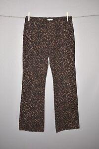HAROLD-039-S-NEW-118-Brown-Cheetah-Print-Boot-Cut-Corduroy-Pant-Size-6