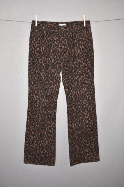 HAROLD'S NEW $118 Brown Cheetah Print Boot Cut Corduroy Pant Size 6