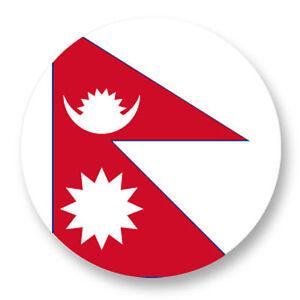 Magnet Aimant Frigo Ø38mm Drapeau Flag Echarpe Maillot Nepal NP Katmandou