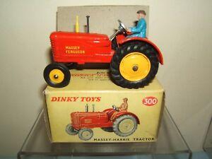 Vintage Dinky Toys modèle No.300 Massey Ferguson (pneus en caoutchouc) Mib
