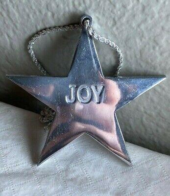 3 1 4 Metal Star Joy Christmas Ornament N Ebay