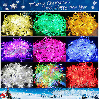 10/20/30/40/50M 100/200/300/400/500 LED Christmas Party Night Fairy String Light