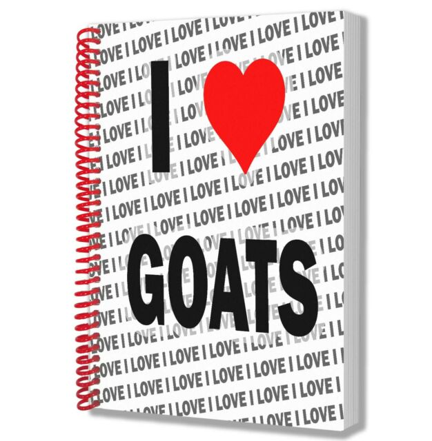I Love Goats - A5 Notebook - Notepad - Birthday - Christmas - Gift