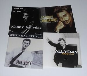 JOHNNY-HALLYDAY-Lot-de-8-CD-singles-Vivre-Pour-Le-Meilleur-Debout
