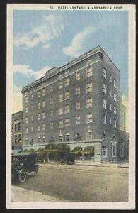 Image Is Loading Postcard Ashtabula Ohio Oh Hotel Building View