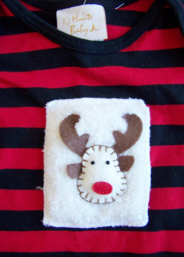 new $49 HAUTE BABY 12 mo CHRISTMAS HOLIDAY REINDEER OUTFIT