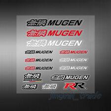 Set (14 pcs) Color MUGEN Logo Car Sticker Decal Emblem For Honda Acura All Model