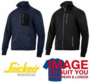 312ab93a Image is loading SNICKERS-FLEXIWORK-STRETCH-FLEECE-JACKET-8001-BLACK-OR-