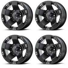 4 ATV/UTV Wheels Set 14in KMC XS775 Rockstar I 1 Black 4/110 0mm IRS