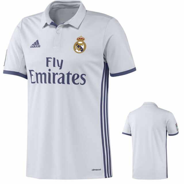 12e5dee8225 adidas Mens 2016-17 Real Madrid Home Replica Jersey S94992 L for ...