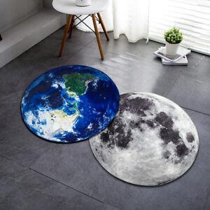 Soft Round Carpet 3d Moon Earth Planet Floor Mat Anti Slip