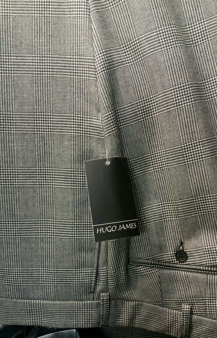 HUGO JAMES PRINCE OF WALES SUIT trousers 42