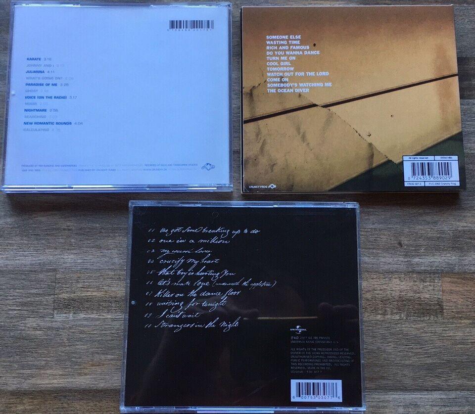 Superheroes / Private: 3 CD albums, pop