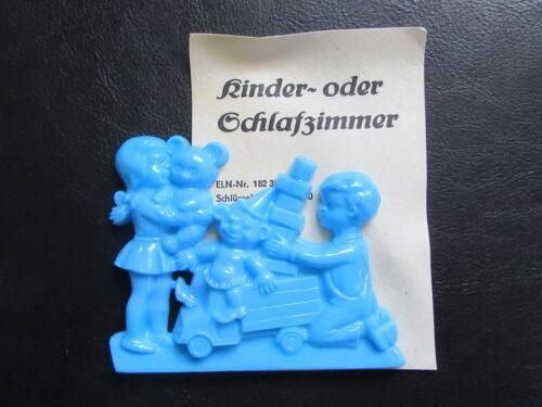 Türschild-Kinderzimmer-Kindergarten-Kita-Schulhort-unbenutzt in OVP-DDR Design