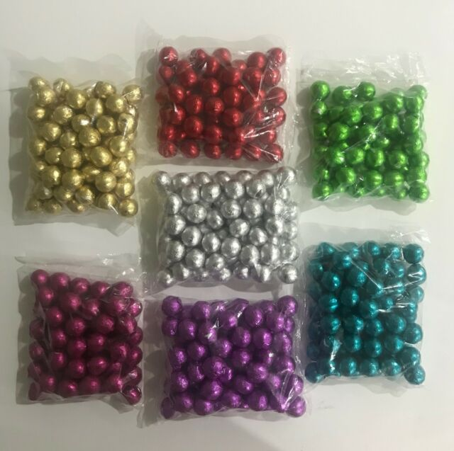 31f45b294272 FOIL BALLS Wrapped Milk Chocolate Quality Wedding Christmas Party Table  Favours