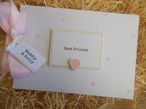 PERSONALISED GLITTER BEST FRIENDS SCRAPBOOK MEMORY PHOTO ALBUM GIFT MULTI USE