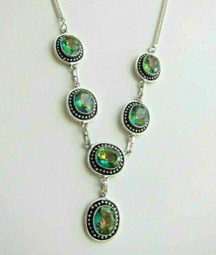 Mystic Topaz Necklace \Pendant \ Bracelet or Bangle. Fire Rainbow
