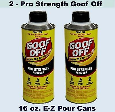 Goof Off Pro Strength Remover 2 16 Oz Cans Glue Tar