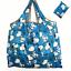 new Snoopy Foldable Shopping Nylon Bag ~ Comic Strip blue