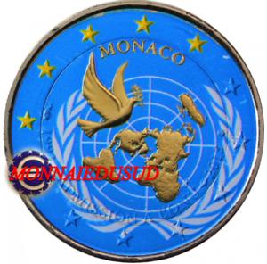 2-Euro-Commemorative-Monaco-2013-en-Couleur-Type-C-Adhesion-a-l-039-ONU
