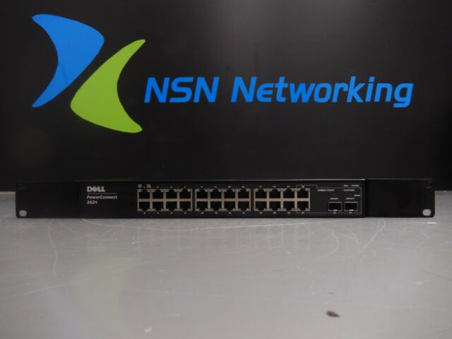 Dell PowerConnect 2824 F491K 24-Port Gigabit Managed Switch w/ Rack Ears