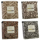 1800 Series 4 Piece Deep Pocket Bed Sheet Set - SAFARI ANIMAL PRINTS - All Sizes
