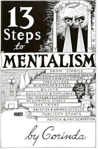 New Hardcover Mentalism Telepathy Book 13 STEPS TO MENTALISM by Tony Corinda