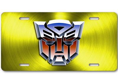 Transformers Novelty Aluminum Car License Plate