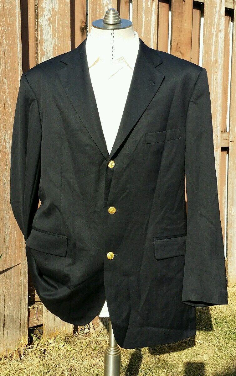 46L Brooks Brothers Goldknopf Herren Blazer Marineblau Sport Mantel Wolle  | Sonderangebot  | Online Store  | Exquisite (mittlere) Verarbeitung