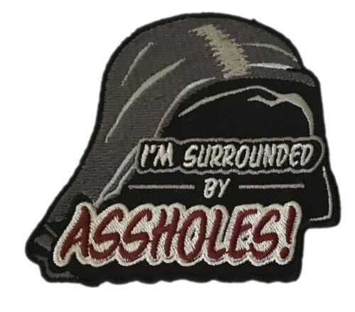 Surrounded ASS Holes SpaceBalls Dark Helmet VELCRO® BRAND Hook Fastener Patch