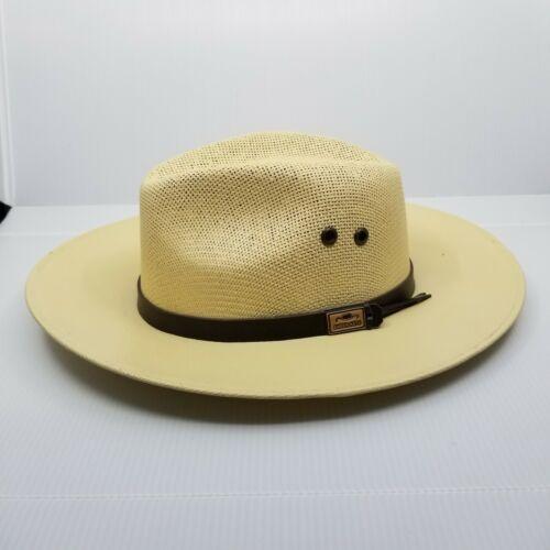 "Enper Mexican Straw Cream Cowboy Hat 23"" Brim"