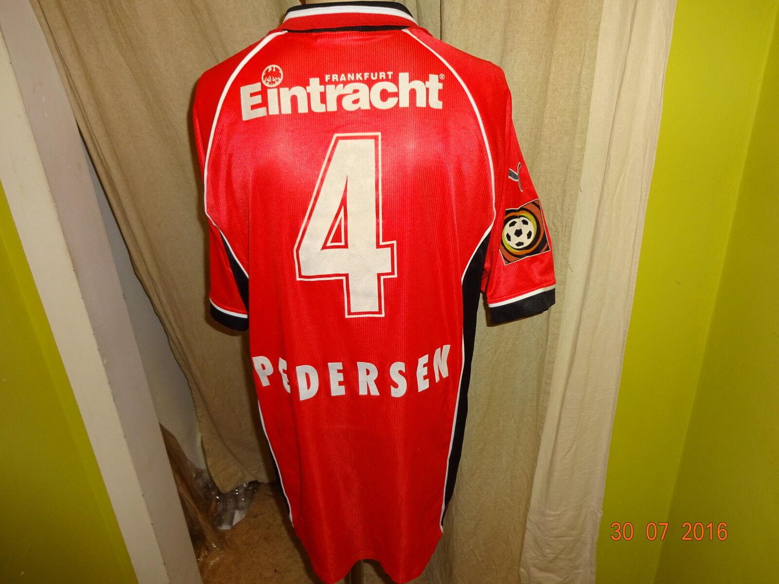 Eintracht Frankfurt Puma Trikot 1998 99  Viag Interkom  + Nr.4 Pedersen Gr.XL  | Nicht so teuer