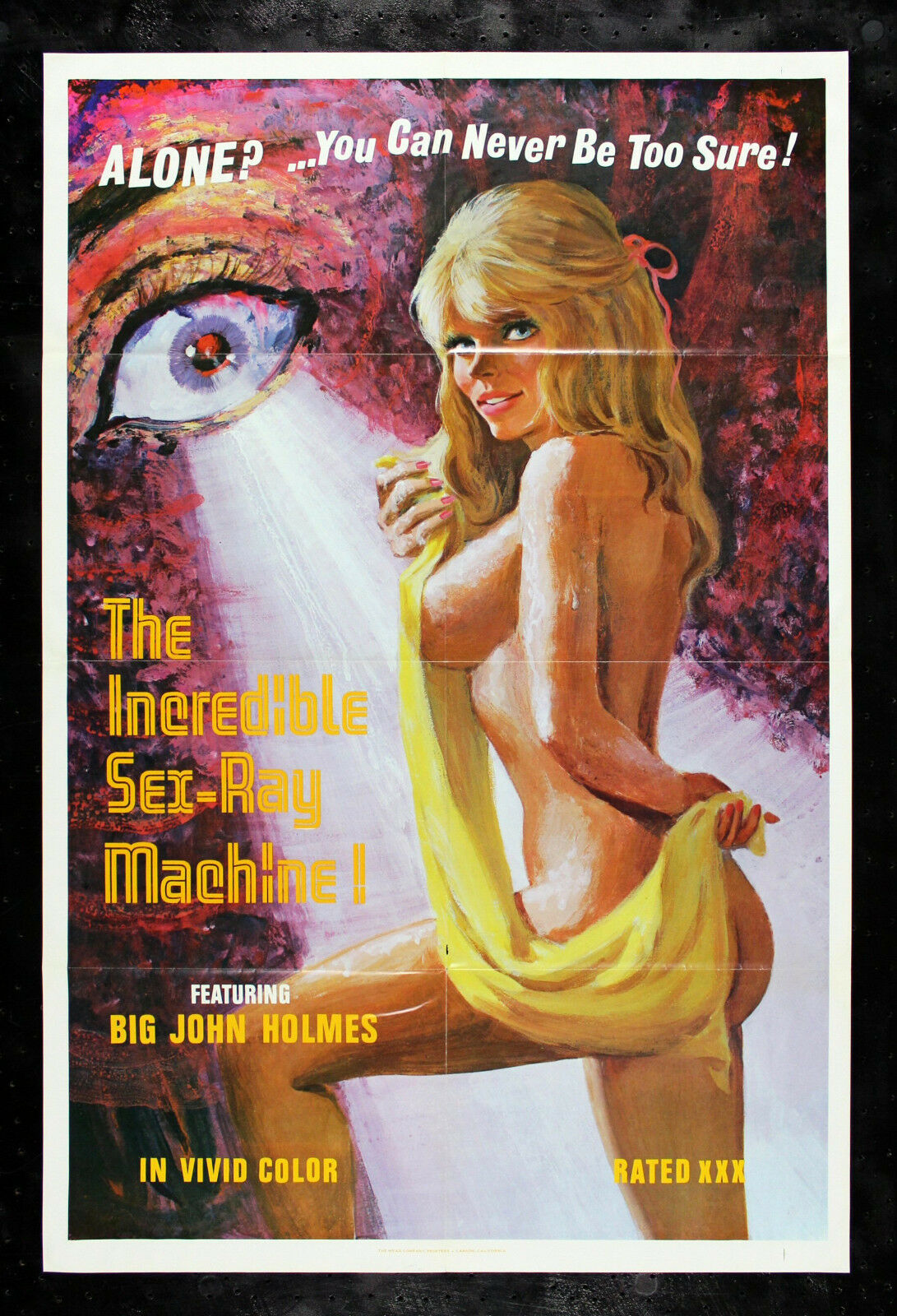 1972 Porn incredible sex ray machine * naked blonde girl adult xxx porn movie poster  1972