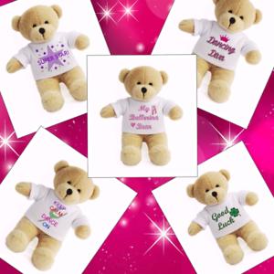 Details About Teddy Bear Dance Personalised Gift Kids Good Luck Keepsake Dancer Soft Toy Uk