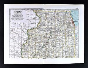 1898 century atlas map northern illinois chicago kankakee joliet image is loading 1898 century atlas map northern illinois chicago kankakee gumiabroncs Image collections
