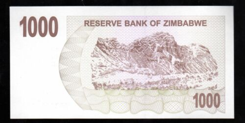 2007 UNC 1 BEARER CHEQUE OF $1000 BANK NOTE WORLD FROM ZIMBABWE IN AFRICA