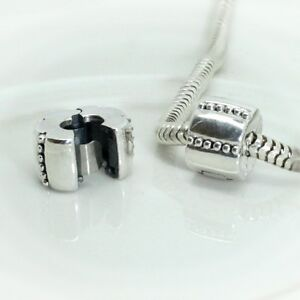 DECORATIVE-ribbed-clip-Hinged-stopper-Lock-Solid-925-sterling-silver-charm-bead