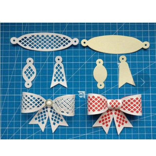 6Pcs Bow Tie Design Metal Cutting Die For DIY Scrapbooking Album Paper Cards MW