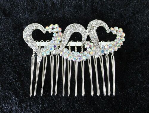 Dama De Honor Nupcial Diamante Peine de Cabello 3 Diseños