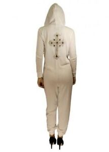 White Celeb Gold Sequin Cross Jumpsuit All In 1 Sleep