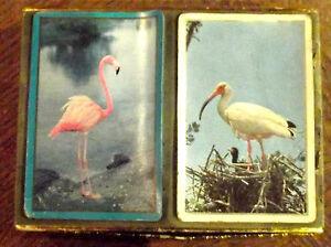 2 Ancien Jeu 54 Cartes Oiseaux Flamant Rose , Ibis CoûT ModéRé