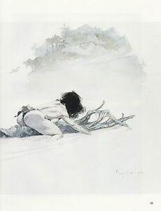"""1985 Full Color Plate /""""Girl on the River/"""" by Frank Frazetta Fantastic GGA"""